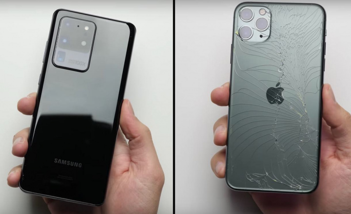 "Samsung Galaxy S20 Ultra Vs iPhone 11 Pro! Qual o mais ""duro""?"