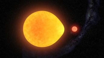 Ilustração de estrela pulsar em forma de lágrima