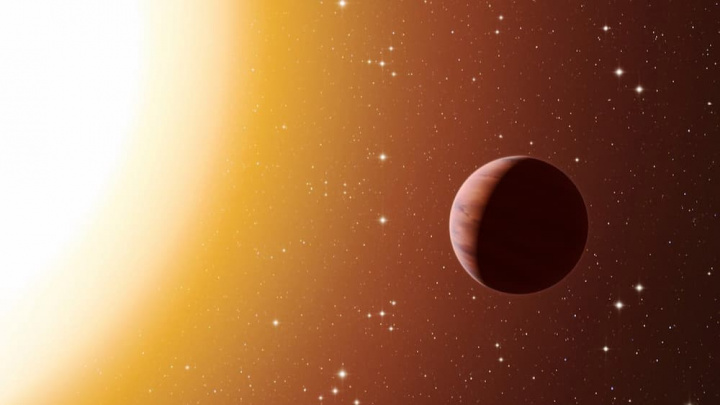 Imagem planeta WASP-76b onde chove frro