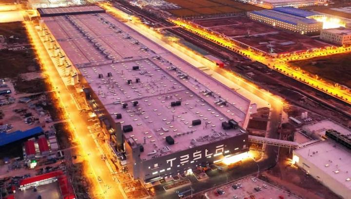 Imagem fábrica Tesla da China