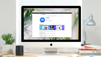 Imagem Mac com Messenger do facebook