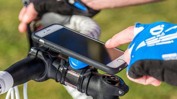 Imagem smartphone com RunKeeper para bicicleta que Google monitoriza