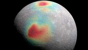 Imagem ilustrativa de água no planeta Mercúrio