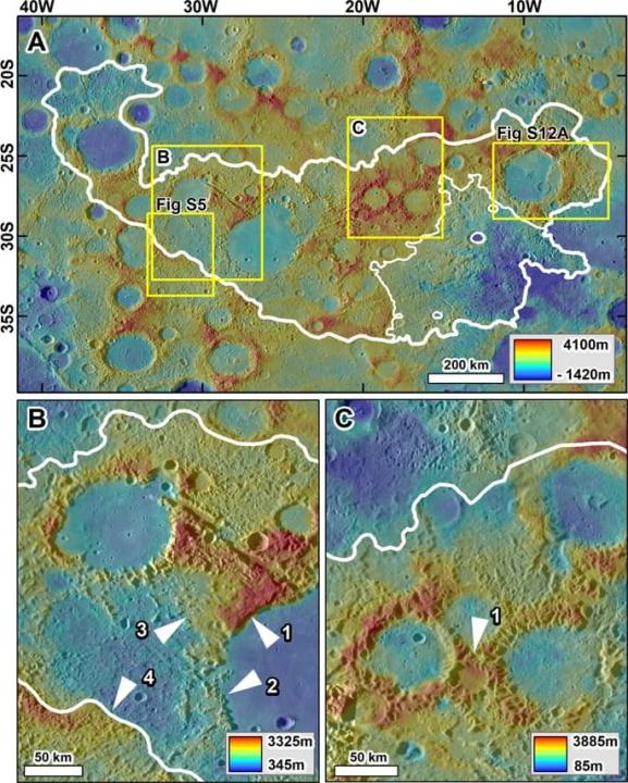 Imagem do solo do planeta Mercúrio onde poderá haver vida