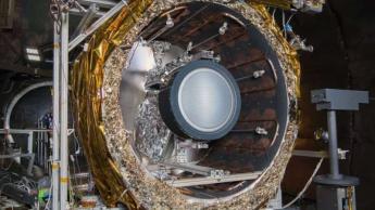 Imagem do novo motor de iões da NADSA que levará DART até ao impacto com um asteroide