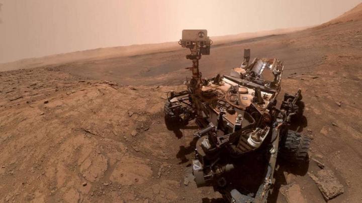 Imagem da fotografia panorâmica do planeta vermelho