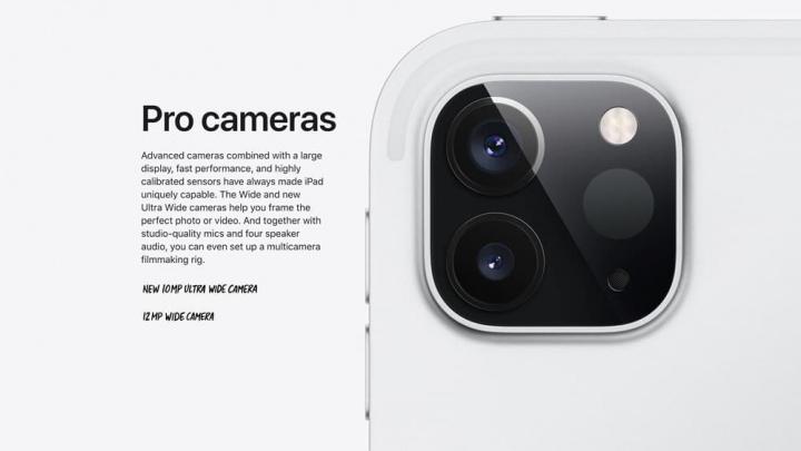 Imagem do novo iPad Pro com novas câmaras
