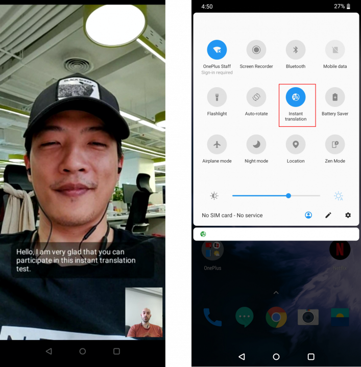 oneplus instant translation video calls