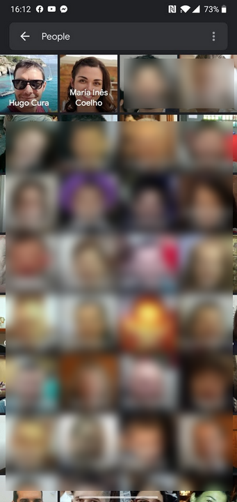 Google fotos - caras