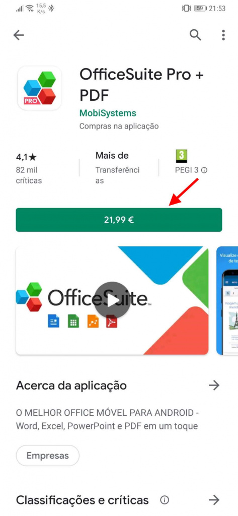 MEO Play Store Android pagar apps