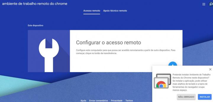 Chrome Remote Desktop: Acesso remoto à sua máquina