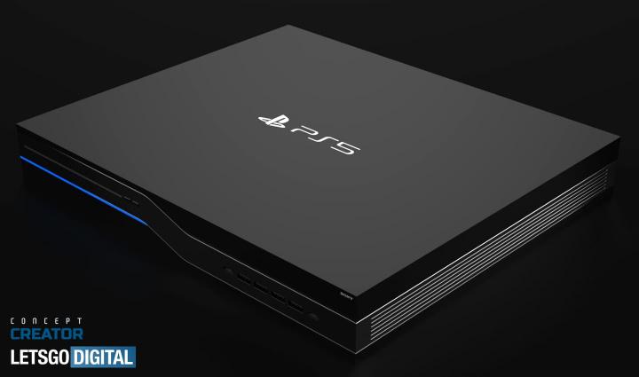 Imagem PlaySation 5 numa imagem de conceito