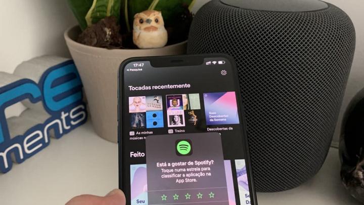 Imagem da app Spotify que poderá ter um novo recurso Hey Spotify para reproduzir música