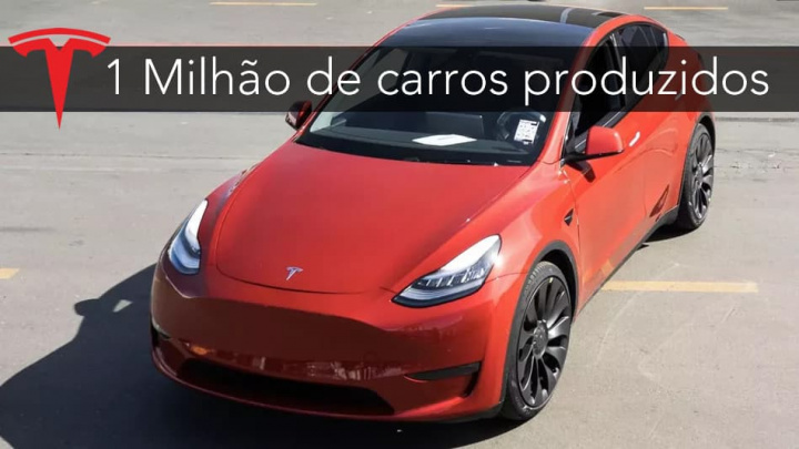 Imagem tesla Model Y 1 milhão de carros elétricos