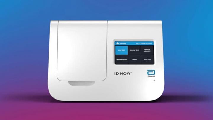 Imagem dispositivo ID NOW para testes rápidos ao novo coronavírus