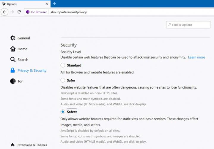 Tor Browser privacidade segurança javascript anonimato