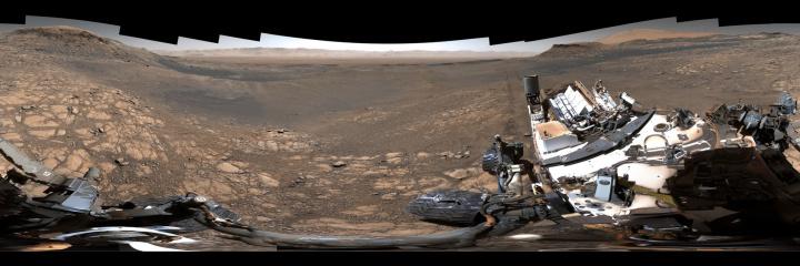 Imagem panorâmica de Marte