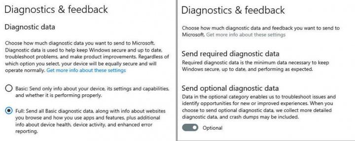 Windows 10 dados Microsoft mudança utilizadores