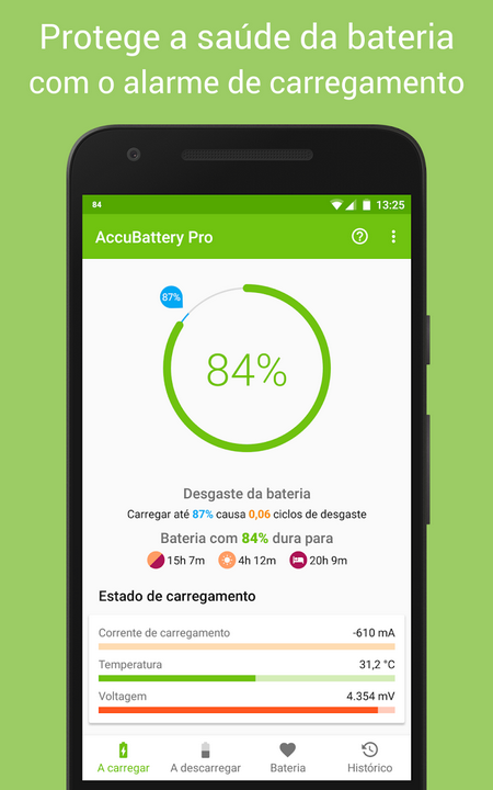 AccuBattery - Bateria - apps android úteis