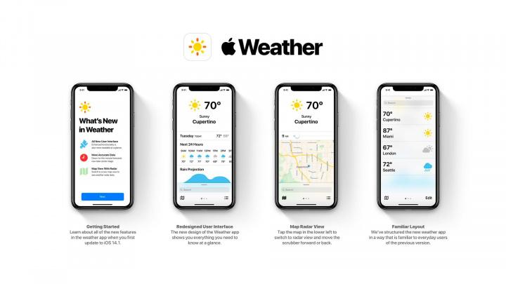 Imagem da app Tempo para iOS com a inserção da nova app