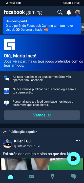 Facebook Gaming - INICIO