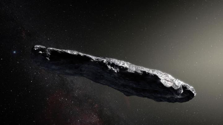 Imagem Oumuamua, asteroide interestelar que é fragmento de planeta