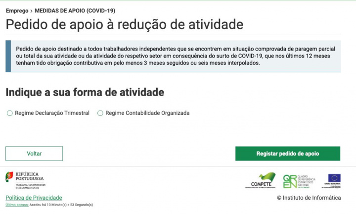 COVID-19: Trabalha a Recibos Verdes? Formulário para pedir apoio disponível