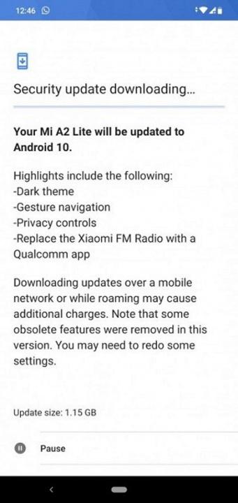Mi A2 Lite Xiaomi Android 10 atualização problemas smartphones