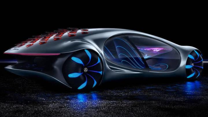 Imagem Mercedes Vision AVTR com baterias do futuro