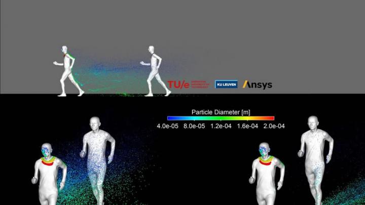 Imagem corrida e o rasto de respiração