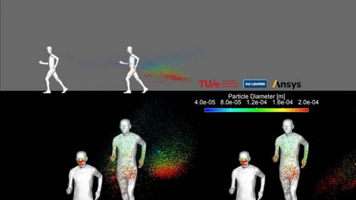 Imagem distâncias a fazer exercício por causa da COVID-19