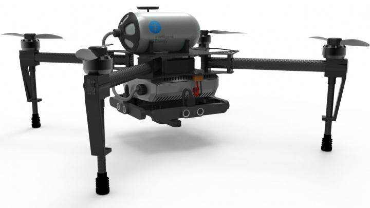 Imagem drone a célula de combustível a hidrogénio