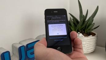 Imagem iPhone 4 a tentar ativar o FaceTime