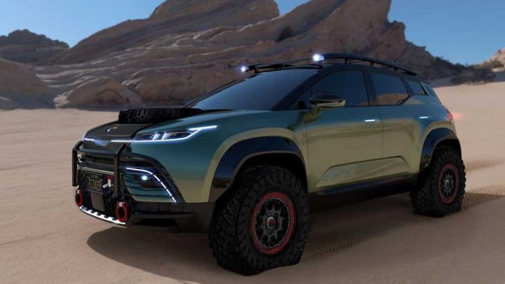 Imagem do SUV elétrico concorrente da Tesla