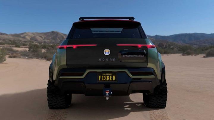 Imagem do off-road Fisker Ocean um SUV elétrico concorrente à Cybertruck