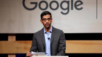 Imagem de Sundar Pichai, CEO da Google que deu ordens para banir o Zoom