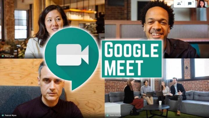 Imagem Google Meet para videoconferência