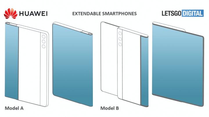 Patente de smartphone Huawei, com ecrã deslizável