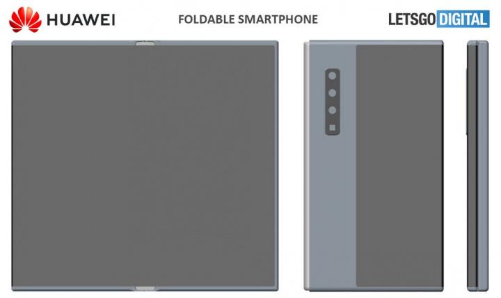 Smartphone dobrável da Huawei com câmara periscópio para Zoom