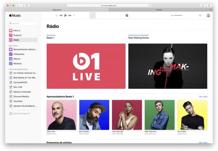 Imagem Apple Music na web e a música chega a mais lugares
