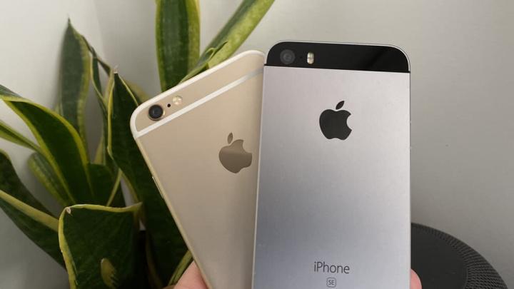 Imagem do iPhone SE e iPhone 6S