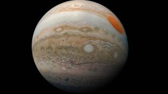 Imagem de Júpiter pela câmara de Juno, a sonda da NASA