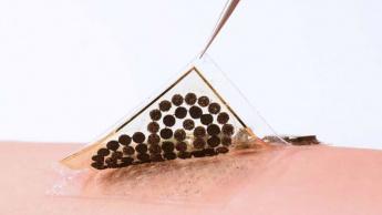Imagem pele eletrónica que pode gerar energia do suor