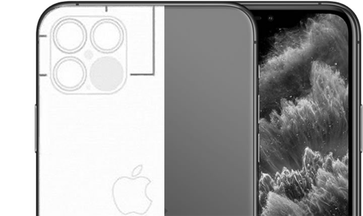 Apple: Alleged image shows the camera configuration of the iPhone 12 Pro with ...