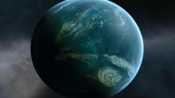Imagem Planeta de água, ou planeta oceánico