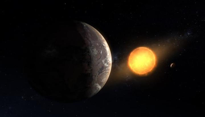 Imagem do planeta Kepler-1649c que é parecido com a Terra, descoberto pelo Kleper da NASA