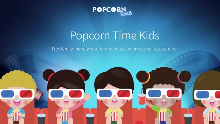 Popcorn Time lança serviço dedicado às crianças