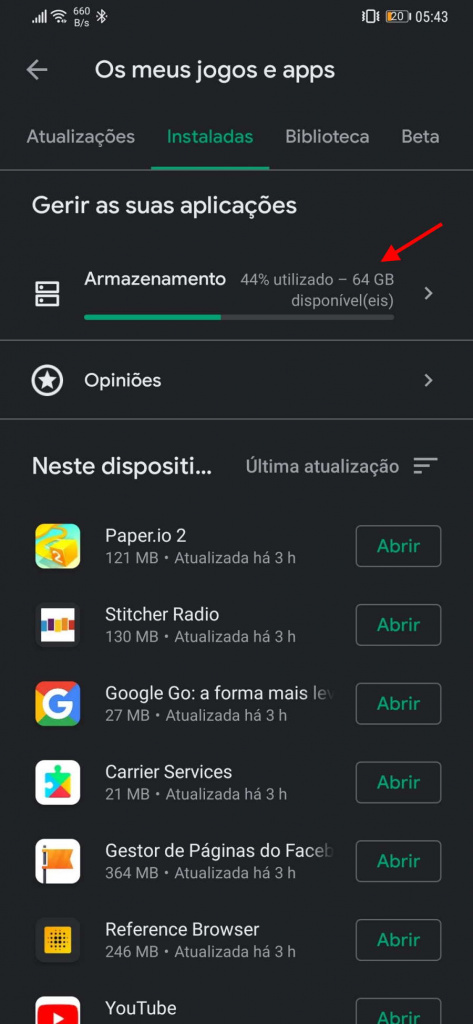 Android apps dados Play Store