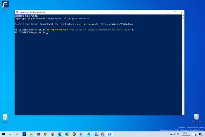 Windows Defender Windows 10 unidades rede Microsoft
