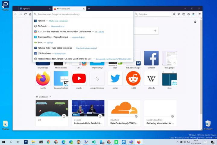 Firefox Mozilla barra endereço browser